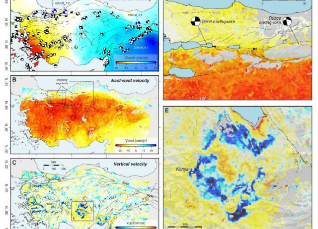 High‐resolution surface velocities and strain for Anatolia from Sentinel‐1 InSAR and GNSS data